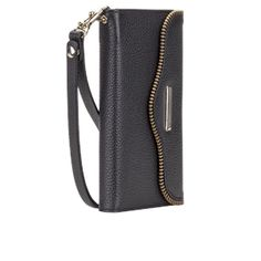I want the #CaseMate Black Leather Folio Wristlet by Rebecca Minkoff for Samsung Galaxy S6 in Black from Case-Mate.com
