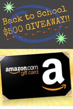 ENTER to win a $500 Amazon gift card! Enter at LollyJane.com!!!