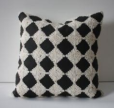 Schumacher Rosette in Charcaol Linen 18 inch Pillow. $110.00, via Etsy.