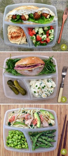 Bento box ideas 4-6. Via One Equals Two