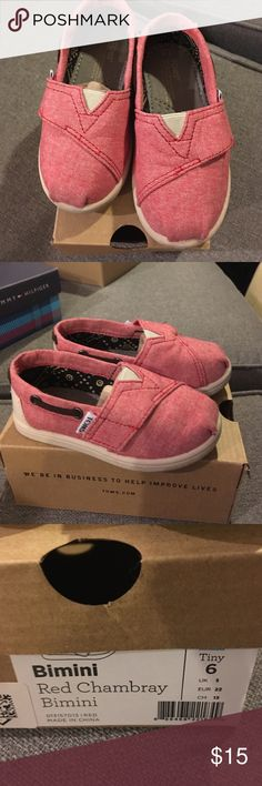 Toms shoes Like new, only worn once. Velcro. TOMS Shoes Baby & Walker