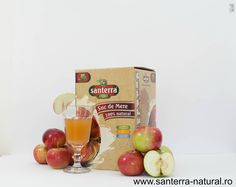 Cloudy Natural Apple Juice by Santerra Natural