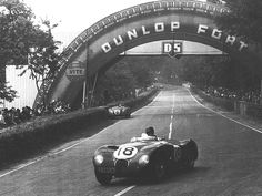 C-Type Jaguar shared by Duncan Hamilton and Tony Rolt at the 1953 24 Hours of Le Mans.