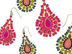 Paisley Pear Earrings