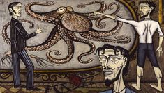 Vingt mille lieues sous les mers, Le Poulpe géant (Twenty Thousand Leagues Under the Sea, The Giant Octopus) by Bernard Buffet, oil on canvas, 1989 Paris Pictures, Paris Photos, Leagues Under The Sea, Paris Ville, Exhibition, Expositions, Art Moderne, Nautical Theme, Oeuvre D'art