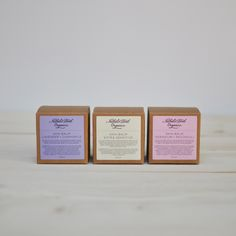 Selection of three skin balms