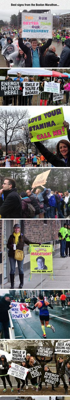 Best Signs From The Boston Marathon