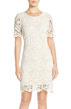Free shipping and returns on KUT from the Kloth Lace Sheath Dress at Nordstrom.com. Densely woven flower patterns animate the angelic white lace throughout this jewel-neck sheath.