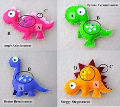 Dinosaur Mobile Childrens Mobile Choose Your Own por FlossyTots