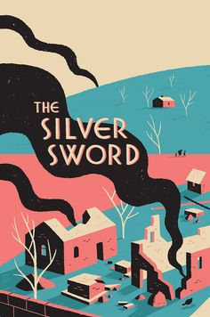 The Silver Sword - Luke Pearson - Illustration and Comics Art And Illustration, Graphic Design Illustration, Illustrations Posters, Graphic Art, Book Cover Design, Book Design, Dm Poster, Design Graphique, Arte Pop
