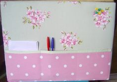 Notice Board With Pockets Green & Pink £14.00 - The Supermums Craft Fair