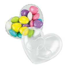 Two Hearts Containers, $.25!  Cute candy favor for a wedding, heart, or Valentine party!