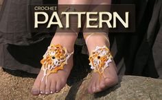 BAREFOOT SANDALS, Crochet pdf PATTERN, Beach Wedding Nude Shoes, Hippie Bohemian Sandals, Bridal Foot Jewelry, Gypsy Lolita Anklets, Pool. $2.90, via Etsy.