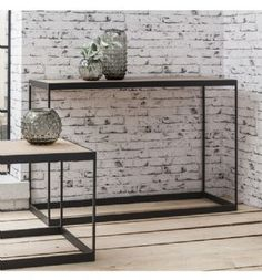 Brunel Industrial French Oak & Metal Console Table