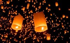 """Buy the royalty-free Stock image """"Floating asian lanterns"""" online ✓ All image rights included ✓ High resolution picture for print, web & Social Media Lantern Image, Floating Lanterns, High Resolution Picture, Designer Wallpaper, Light Bulb, Dream Wedding, Wall Lights, Lighting, Beautiful"""