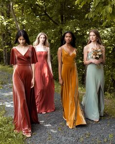 handmade dresses Prom dress ,colorful bridesmaid dress ,sexy prom dress · customdresskoko · Online Store Powered by Storenvy Fall Wedding Colors, Green Wedding Shoes, Spring Wedding, Velvet Wedding Colors, Autumn Wedding, Chic Bridesmaid Dresses, Wedding Dresses, Bridal Party Dresses, Fall Wedding Gowns
