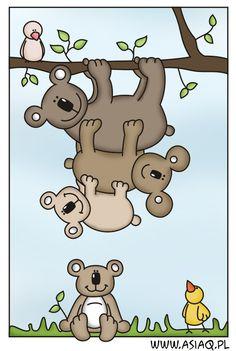 koala bears, Art - Animal Doodles, Illustrations, Clip Art, Vectors, Embroidery, Cross Stitch, Tattoos