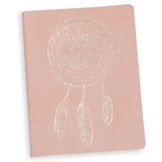 Carnet de notes imprimé rose 15x20cm DREAMCATCHER
