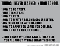 Things I never learned in High School…