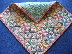 Pinwheel doll quilt - would be a cute table topper