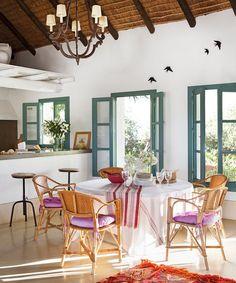 A colorful Andalusian farmhouse