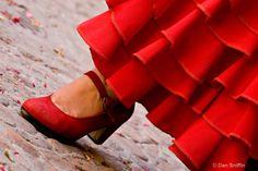 The red shoes that Flaminguera wears allows her to travel and teleport from one place to another. The color red represents Flaminguera's passion toward dancing flamenco. The flamenco shoes make a loud noise so that represents that she is tough and a strong person.