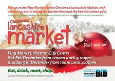 The Lancashire Market returns this December 8th & 9th on Preston's Flag Market and for the first time ever the market will be open into the evening on the Saturday.