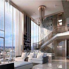 Luxury Penthouse, Luxury Condo, Luxury Homes Dream Houses, Luxury Apartments, New York Apartment Luxury, Nice Apartments, New York Penthouse, Luxury Loft, Dream House Interior