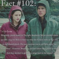 "265 Synes godt om, 5 kommentarer – Twilight Facts (@twilightfactss) på Instagram: ""~ I wonder what the series would've been like without Jacob - Autumn…"""