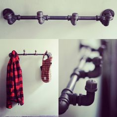 Industrial coat rack (multiple colors) #industrial #pipe #design