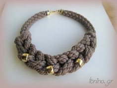 K05b-W14 Crochet Necklace, Beaded Necklace, Necklaces, Winter, Jewelry, Fashion, Beaded Collar, Winter Time, Moda