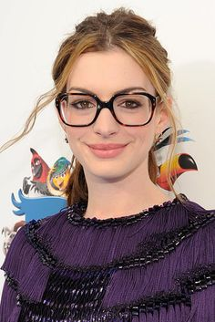 Anne Hathaway | 27 Celebs Who Took Their Glasses Very Seriously