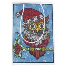 zentangle owl gift bag medium gift bag