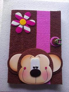 Discover recipes, home ideas, style inspiration and other ideas to try. Foam Crafts, Diy And Crafts, Crafts For Kids, Arts And Crafts, Paper Crafts, Decorate Notebook, Notebook Covers, Punch Art, Scrapbook Albums