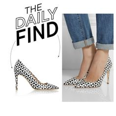 """""""The Daily Find: J.Crew Printed Leather Pumps"""" by polyvore-editorial on Polyvore"""