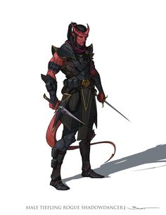 Male Tiefling Shadowdancer, John-Paul Balmet on ArtStation at https://www.artstation.com/artwork/Qzbll