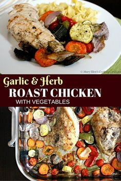Mary Ellen's Cooking Creations: One pot Garlic Herb Roast Chicken with Vegetables