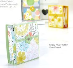 POOTLES Stampin' Up! UK Tea Bag Holder Folder Tutorial