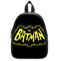 Super Hero Batman Custom Kids School BagTravel BagShoulder BagBackpack 12597545 inchesMedium Size ** Continue to the product at the image link.