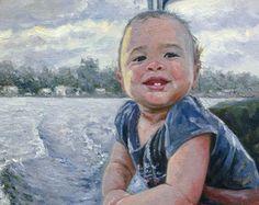 Znalezione obrazy dla zapytania baby's portrait painting art