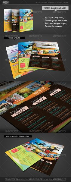 Tourism Events Calendar Flyer Template | Event Calendar, Indesign