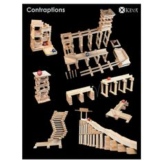 KEVA Contraptions 400 Plank Set, Building Sets, Creative Construction - Mindware