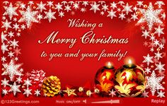 Merry Christmas musical greetings from the Raymond Baugniet Family in Belgium.