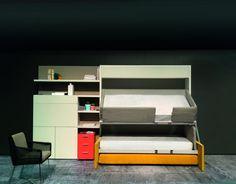 Etagenbett Sofa Duo : Sofa becomes double decker bunk bed space saving furnitures