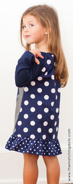 Be spotted! click on photo to shop this dress. The Matching Dots. Dotted kid's fashion. Gift ideas for little girls. Matching friends and sisters. Made in USA.  @The Matching Dots
