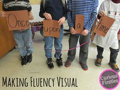 This activity makes fluency more visual to students. It is engaging and fun and uses props and materials for students to understand and practice fluency. Reading Resources, Reading Strategies, Reading Activities, Reading Skills, Teaching Reading, Reading Comprehension, Guided Reading, Teaching Ideas, Therapy Activities
