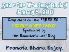 An Educator's Life: Share the Wealth- January 5, 2013
