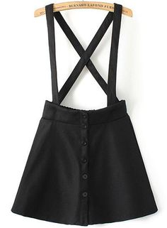 Shop Black Strap Plaid Buttons Skirt online. SheIn offers Black Strap Plaid Buttons Skirt & more to fit your fashionable needs.