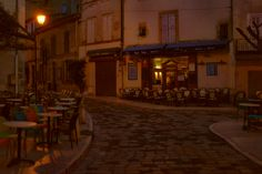 Lourmarin nocą/Lourmarin at night