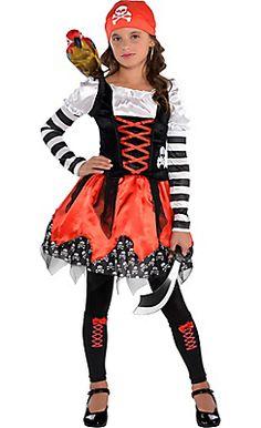 Girls Crossbone Cutie Pirate Costume